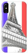 Eiffel De Gaul IPhone Case