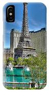 Eiffel Tower And Reflecting Pond IPhone Case