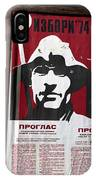 Elections 1974. Belgrade. Serbia IPhone Case