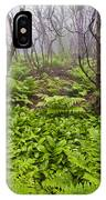 Enchanted Woodland Forest In Fog Blue Ridge Parkway In North Carolina IPhone Case
