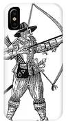 English Archer, 1634 IPhone Case