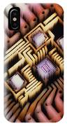 Enhanced Macrophoto Of A Hybrid Integrated Circuit IPhone Case