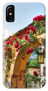 Entrance Arch With Flowers IPhone Case