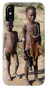 Ethiopia-south Tribesman Boy And Sister No.1 IPhone Case