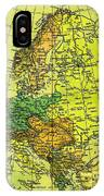Europe Map Of 1911 IPhone Case