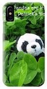 Even Pandas Are Irish On St. Patrick's Day IPhone Case