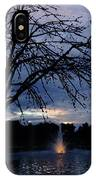 Evening Falls On Youth's Fountain IPhone Case
