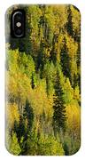 Evergreen And Quaking Aspen Trees IPhone Case