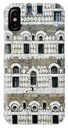 Exterior Of Ornate Mud House, Close Up IPhone Case