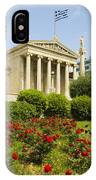 Exterior Of The Athens Academy, Greece IPhone Case