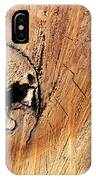 Face In The Wood IPhone Case
