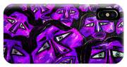 Faces - Purple IPhone Case