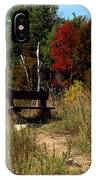 Fall Bench Dreams IPhone Case
