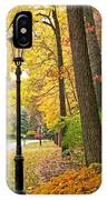 Fall Color And Lamppost IPhone Case