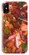 Fall Leaves - Digital Art IPhone Case