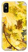 Fall Leaves Abstract IPhone Case