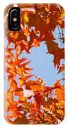 Fall Leaves Art Prints Autumn Red Orange Leaves Blue Sky IPhone Case