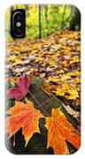 Fall Leaves In Forest IPhone Case