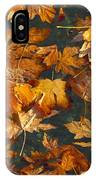 Fall Maple Leaves On Water IPhone Case