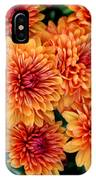 Fall Mums IPhone Case