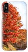 Fall Tree By The Road IPhone Case