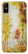 Fall Tree In Autumn Forest  IPhone Case