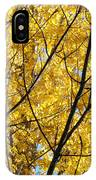 Fall Trees Art Prints Yellow Autumn Leaves IPhone Case