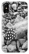 Fallen Feathers Black And White IPhone Case
