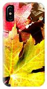 Fallen In The Fall IPhone Case