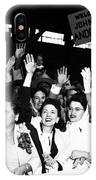 Families Waving And Greeting The Return IPhone Case