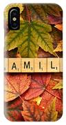 Family-autumn Inpsireme IPhone Case