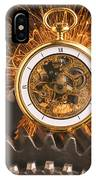 Fancy Pocketwatch On Gears IPhone Case
