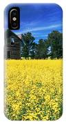 Farm House And Canola Field, Holland IPhone Case