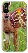 Fawn In Flowers IPhone Case
