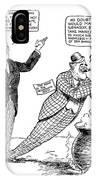F.d. Roosevelt Cartoon IPhone Case