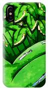 Female On A Mardi Gras Float Painted IPhone Case