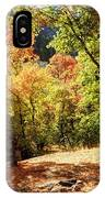 Fenced Path Through Autumn Forest - Blacksmith Fork Canyon - Utah IPhone Case