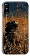 Fencepost And Thistles IPhone Case