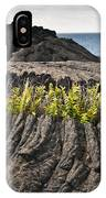Ferns Growing From A Crack In The Lava IPhone Case