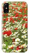 Field Of Daisies And Poppies. IPhone Case