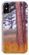 Field Pines And Fog In Shannon County Missouri IPhone Case