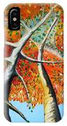 Fiery Trees IPhone Case