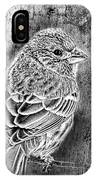 Finch Grungy Black And White IPhone Case
