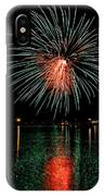 Fireworks Of Green And Red IPhone Case