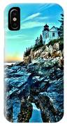 First Light At Bass Harbor IPhone Case