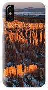 First Light At Bryce Canyon IPhone Case