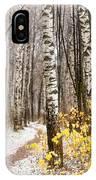 First Snow. Hidden Path IPhone Case
