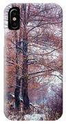 First Snow. Winter Coming IPhone Case