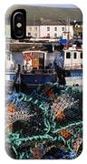 Fishing Boat Moored At A Harbor IPhone Case