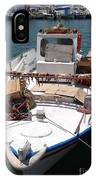 Fishing Boat With Octopus Drying IPhone Case